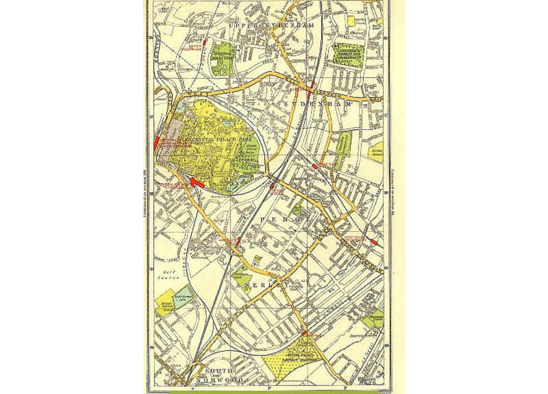 anerley map